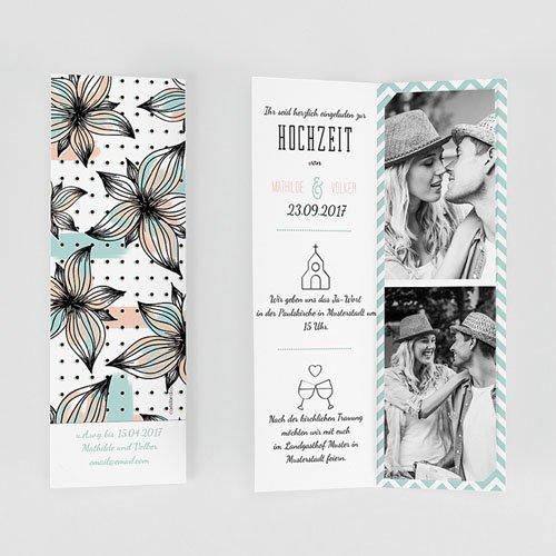 Hochzeitseinladungen Floral und Aquarell gratuit