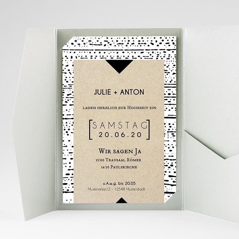 Hochzeitskarten Querformat Tribal Modern gratuit