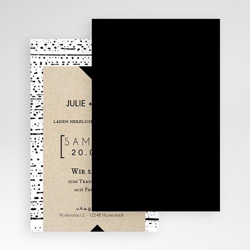 Hochzeitskarten Querformat - Tribal Modern 52039 test