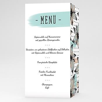 Menükarten Hochzeit - Floral und Aquarell - 0