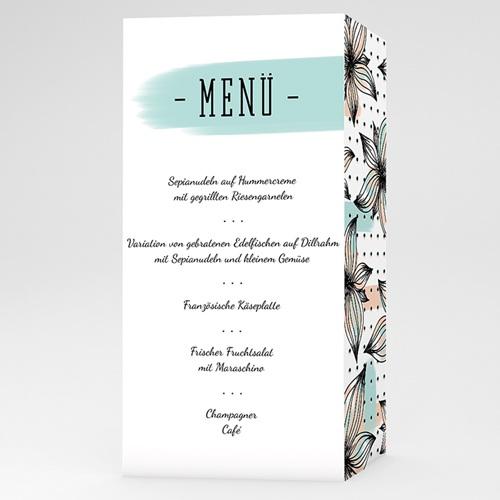 Menükarten Hochzeit - Florale Romantik  52092 test