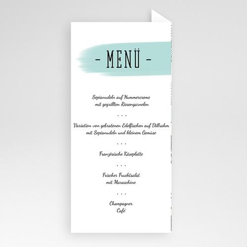Menükarten Hochzeit - Florale Romantik  52093 test