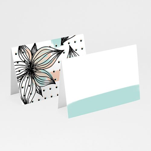 Tischkarten Hochzeit - aquarellblau 52101