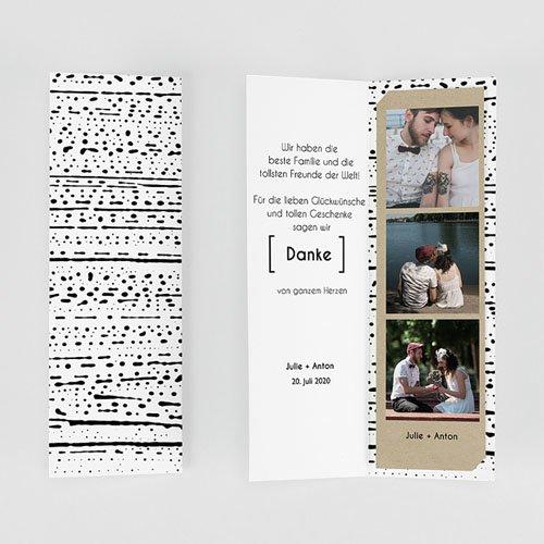 Alle Dankeskarten Hochzeit Tribal Modern gratuit