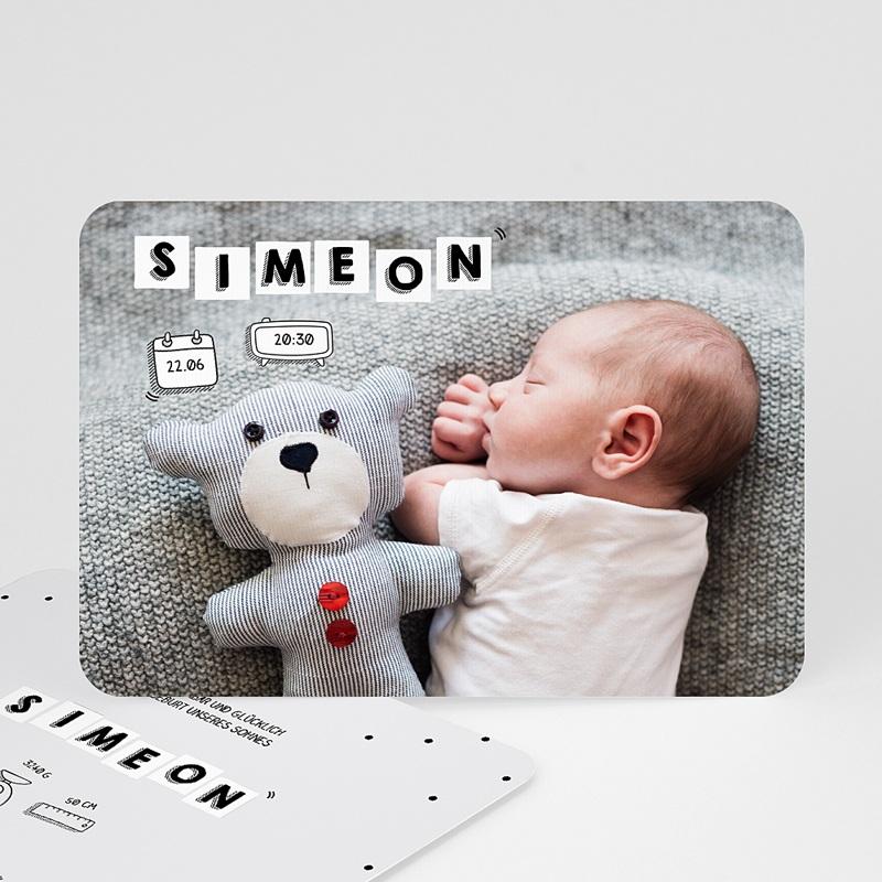 Geburtskarten für Jungen Babybrief
