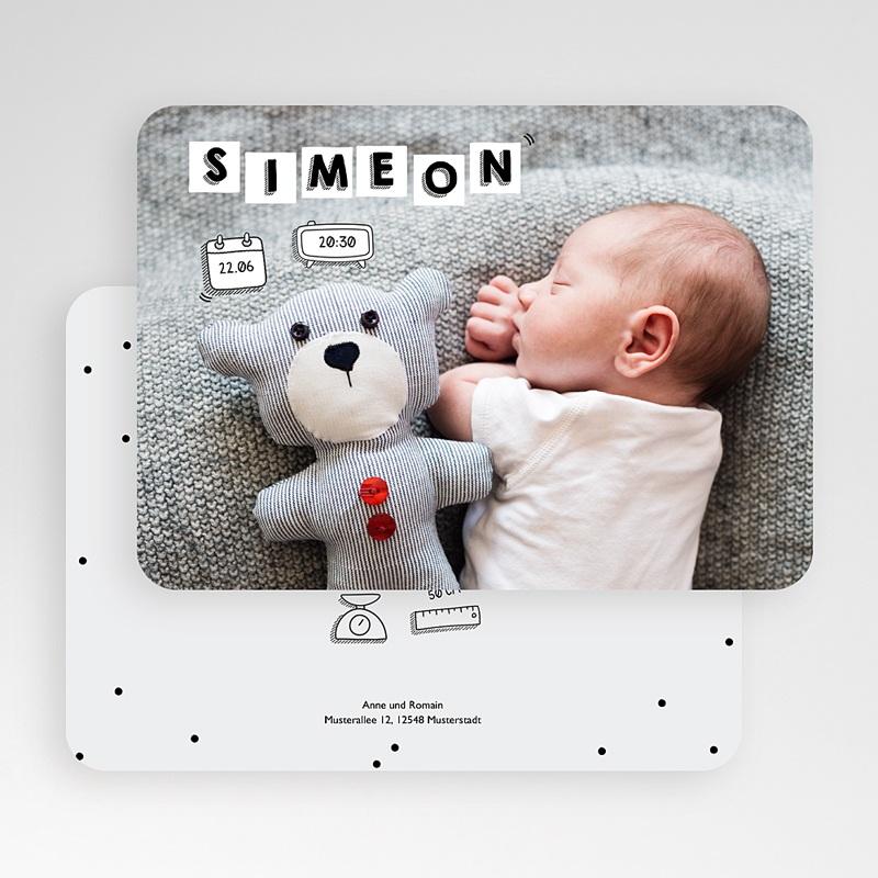 Geburtskarten für Jungen Babybrief gratuit