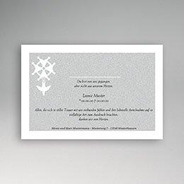 Danksagungskarten Décès Chrétien Weg