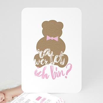 Geburtskarten für Mädchen - Nounours Fille - 0
