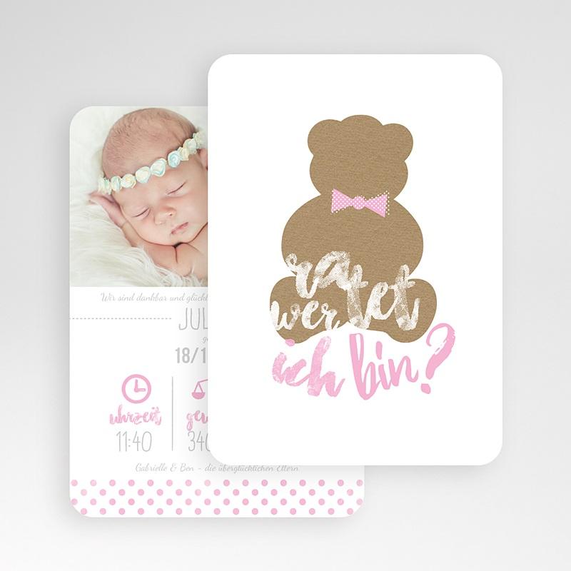 Geburtskarten mit Bär Ratet wer ich bin gratuit