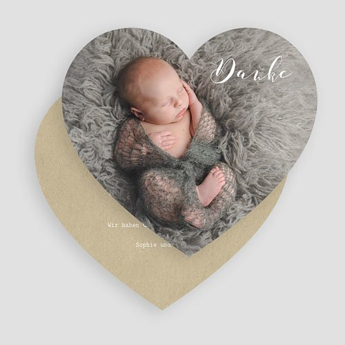 Dankeskarten Geburt Jungen - Danke mit Herz 52171 preview