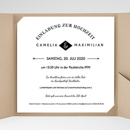Hochzeitskarten Quadratisch - Yuccie Chic - 0