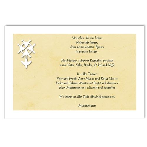 Christlich Dankeskarten Trauer Stille