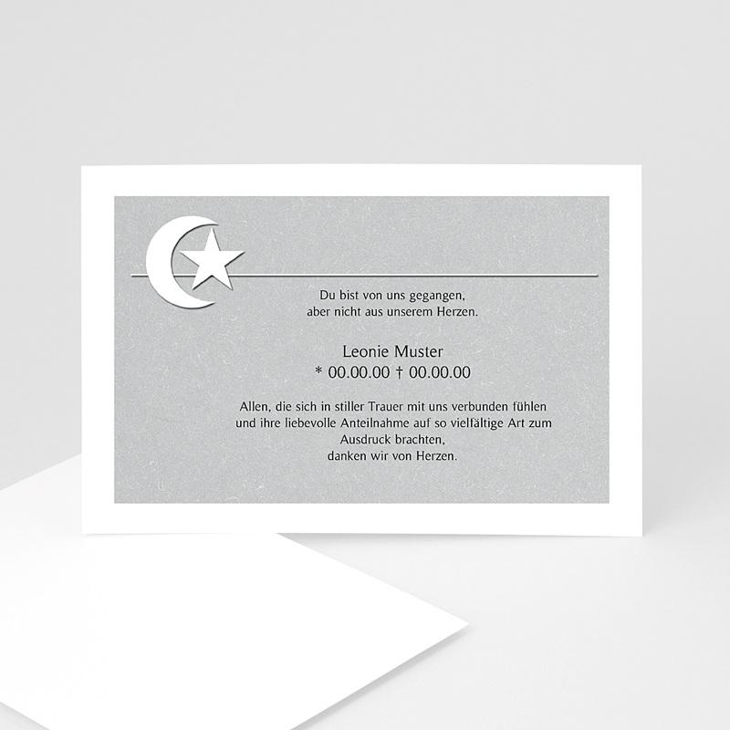 Muslimisch Dankeskarten Trauer Mondsichel in grau