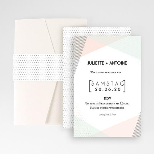 Hochzeitskarten Querformat - Trendig 52273