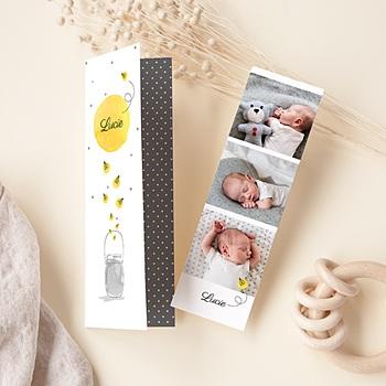 Foto-Babykarten gestalten Glühwürmchen