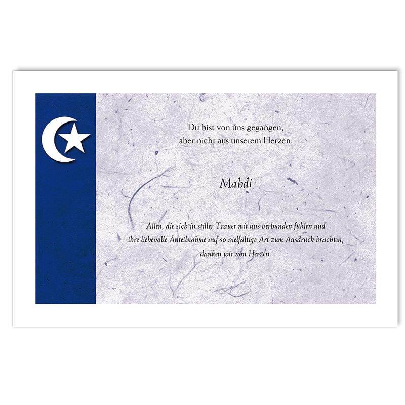 Trauer Danksagung muslimisch - Violette Mondsichel 5231 thumb