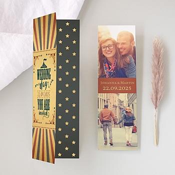 Hochzeitseinladungen modern - Zirkusluft - 0
