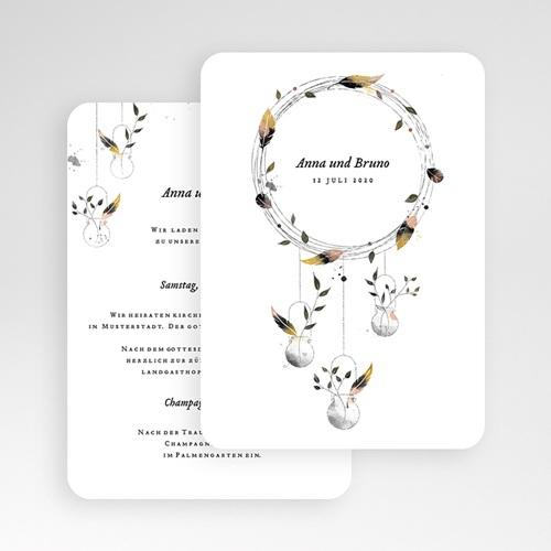 Einladungskarten Hochzeit   Boho Chic 52341 Test ...