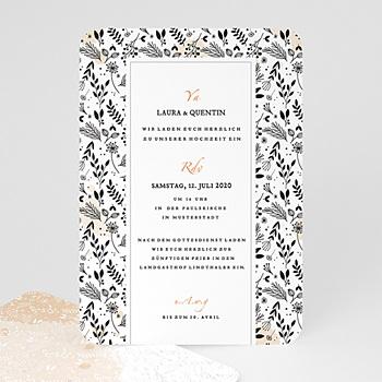 Elegante Hochzeitskarten  - Lovely Flower - 0