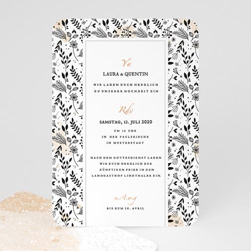 Elegante Hochzeitskarten  - Lovely Flower 52348 test
