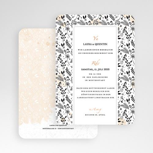 Elegante Hochzeitskarten  - Lovely Flower 52350 test
