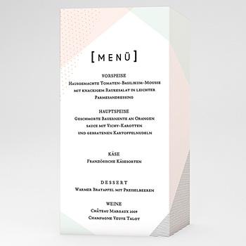 Menükarten Hochzeit - Trendig - 0