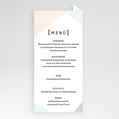 Menükarten Hochzeit - Trendig 52367 test