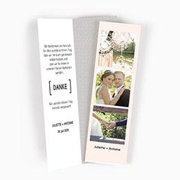 Danksagungskarten Hochzeit Trendig
