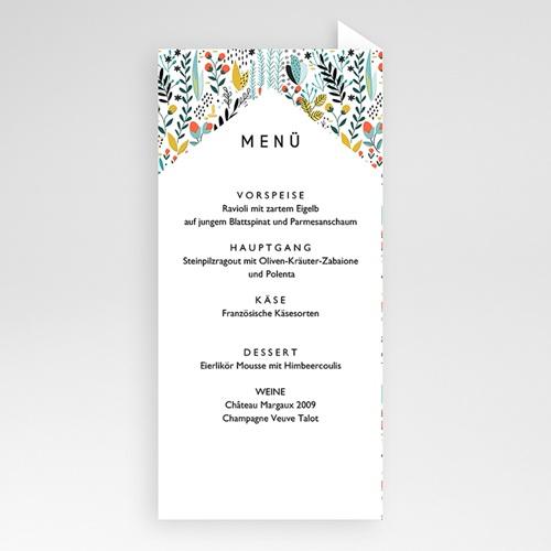 Menükarten Hochzeit - Wilde Blumen 52391 test