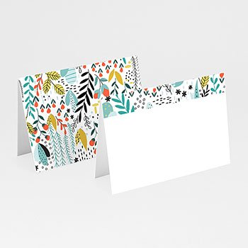 Tischkarten Hochzeit - Wilde Blumen - 0