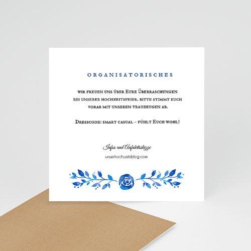 Einlegekarten Hochzeit - Sommerblau 52450