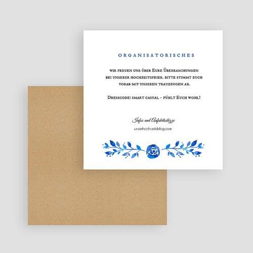 Einlegekarten Hochzeit - Sommerblau 52452 preview