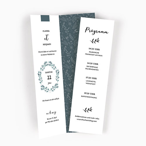 Hochzeitseinladungen modern - Green Love 52468