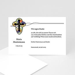 Danksagungskarten Décès Chrétien Kirchenfenster