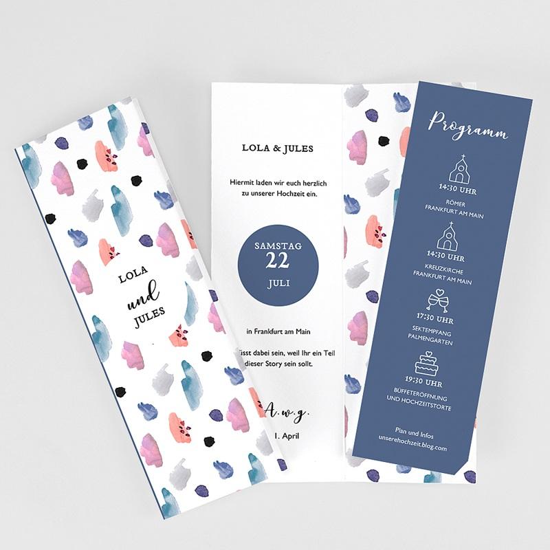Hochzeitseinladungen Abstrakt