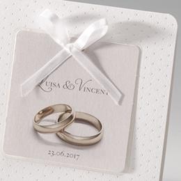 Hochzeitseinladungen traditionell - Ringe fürs Leben - 0