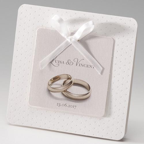 Hochzeitseinladungen traditionell - Ringe fürs Leben 52510 preview