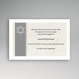 Trauer Danksagung israelitisch - Davidsstern - 1