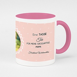 Zweifarbtasse - Tea Time rosé - 0