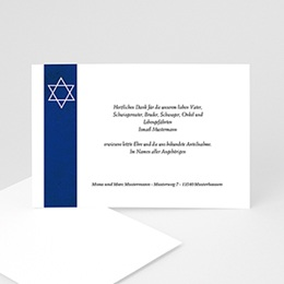 Karten Décès Juif Jüdisches Glaubensbekenntnis