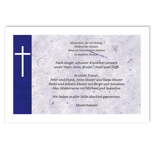 Christlich Dankeskarten Trauer Glaubensbekenntnis
