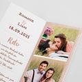 Hochzeitseinladungen Rose Chic & Holz pas cher
