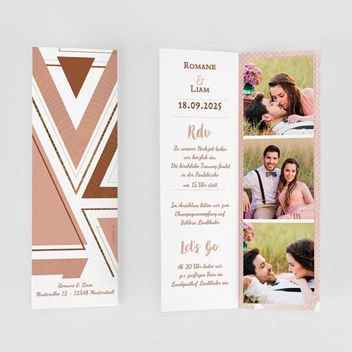 Hochzeitseinladungen Rose Chic & Holz gratuit