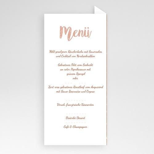 Menükarten Hochzeit - Rose Chic & Holz 52689 preview