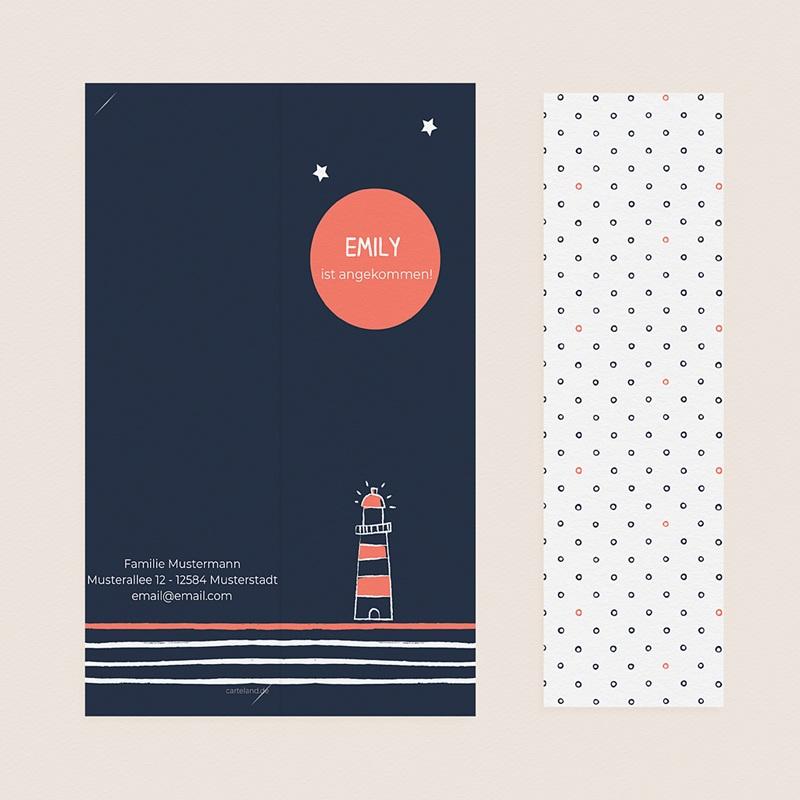 Geburtskarten Lichtsignal pas cher