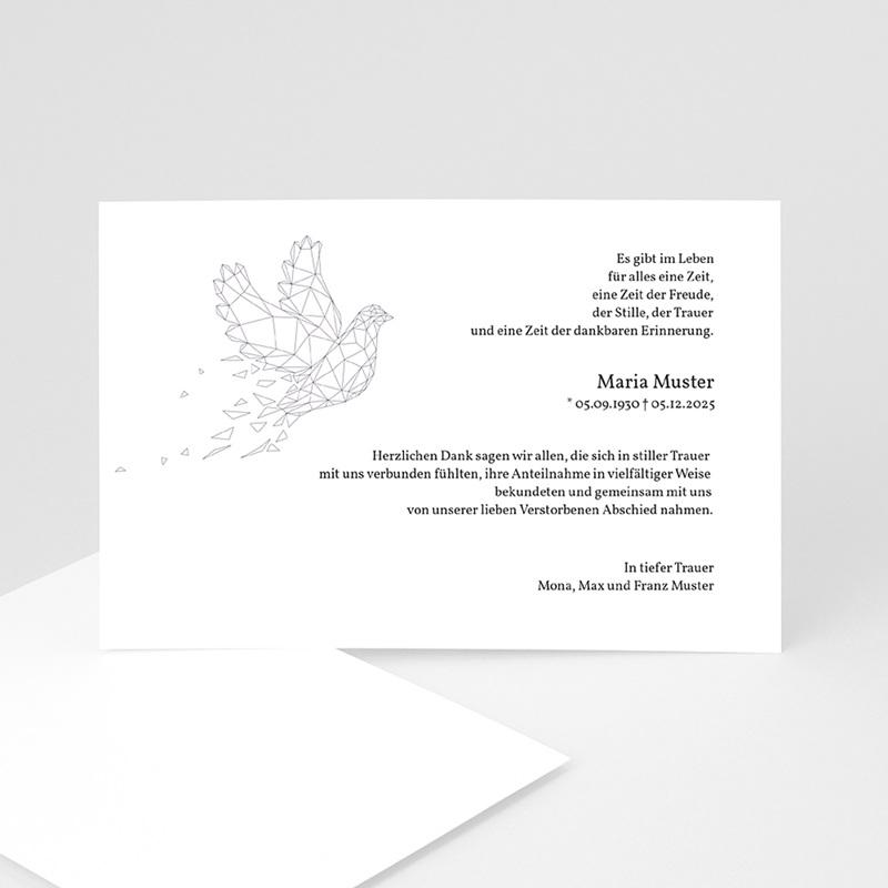 Weltlich Dankeskarten Trauer Frieden