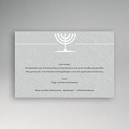 Karten Décès Juif In Übereinstimmung mit Gott