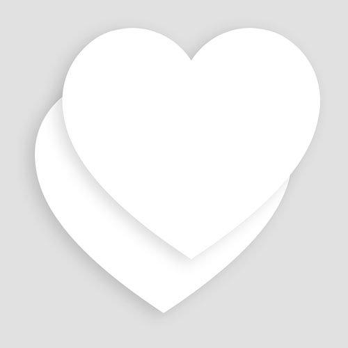 Einladungskarten Taufe Mädchen -  Taufkarte Blanko Herz  52822 preview