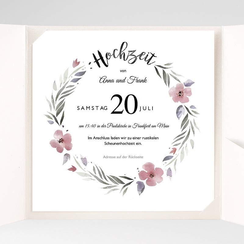 Hochzeitskarten Quadratisch Herrlich romantisch pas cher
