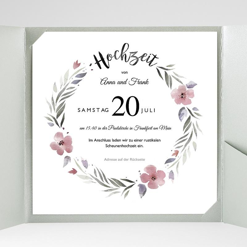 Hochzeitskarten Quadratisch Herrlich romantisch gratuit